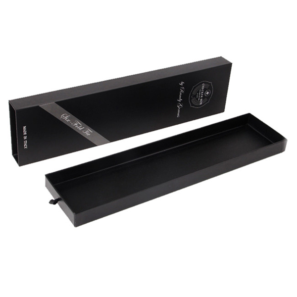 Black paper sliding box for hair extension packaging