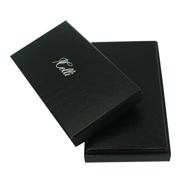 black gift packaging box for phone case with lid