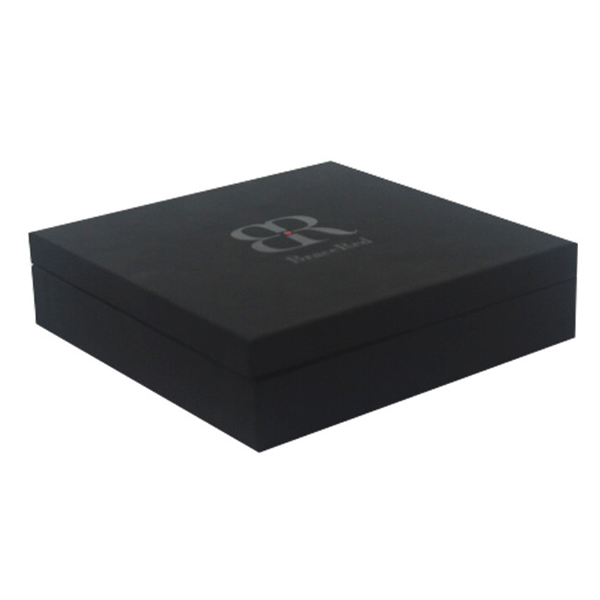 black jewelry gift box with spot UV logo