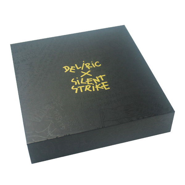full UV gold logo magnetic paper box with EVA insert