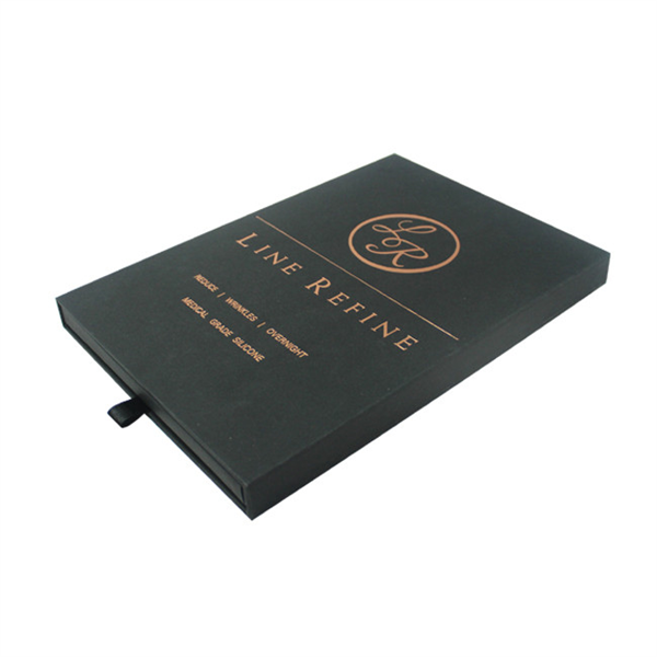 Black paper sliding box for gift products packaging