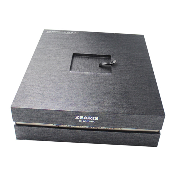 large black wine paper box for displaying
