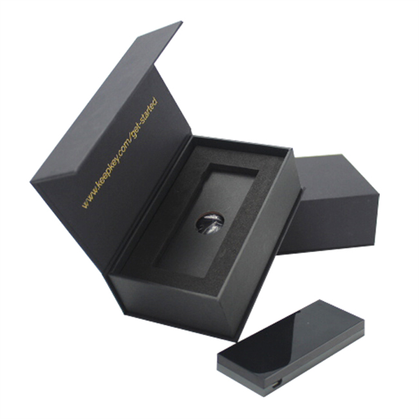 Black paper card box for electronic packaging with EVA