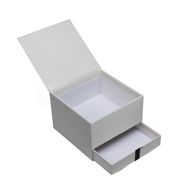 Two layer paper rigid gift box for flower and cookies packaging