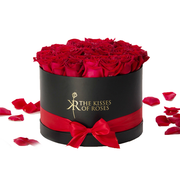 Custom Made Luxury Round Hat Box For Flowers/Flowers Packing Round Box/Round Flower Box