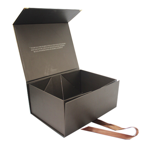 high quality beauty packaging box with ribbon