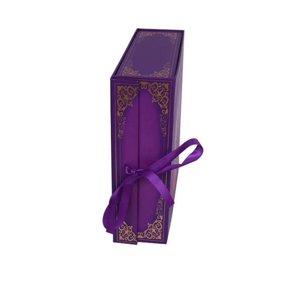 folding packaging box with ribbon for cosmetic