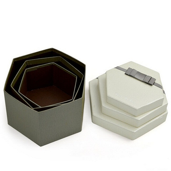 hexagon paper boxes for gift packaging