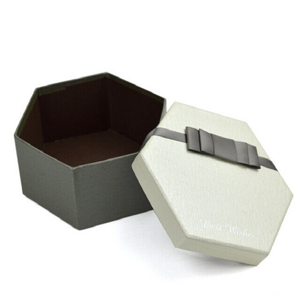 Custom sizes hexagon paper box supplier,Paper stock boxes