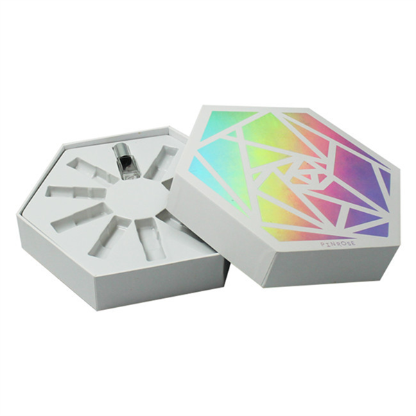 luxury hexagon Cosmetic packaging cardboard essential oil box