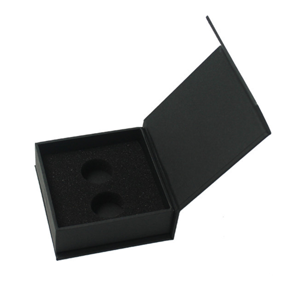 Customized black magnetic paper box for product packaging,OEM factory
