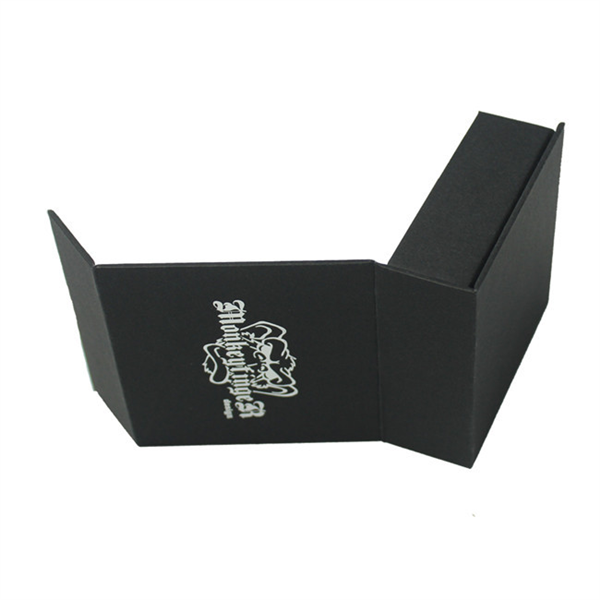 black magnetic paper box for gift packaging