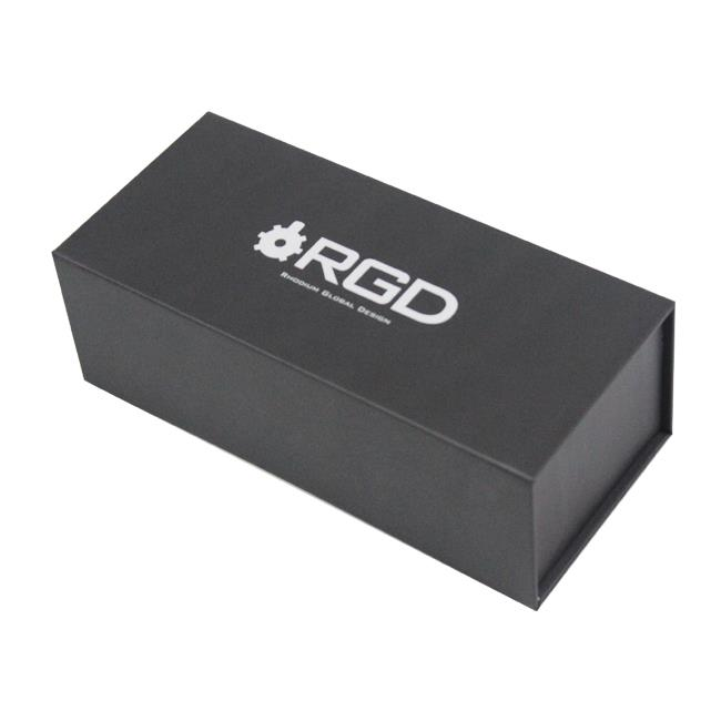 Small black card gift box with magnet closure