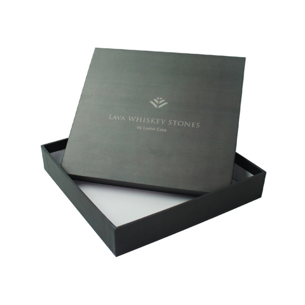 Rigid paper sample box with lid for jewelry packaging