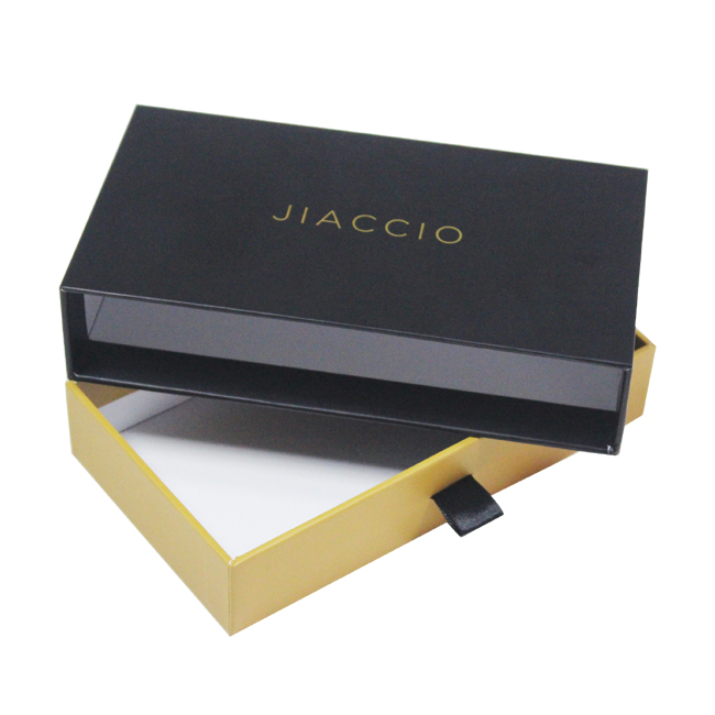 Rigid cardboard paper sliding box for gift packaging