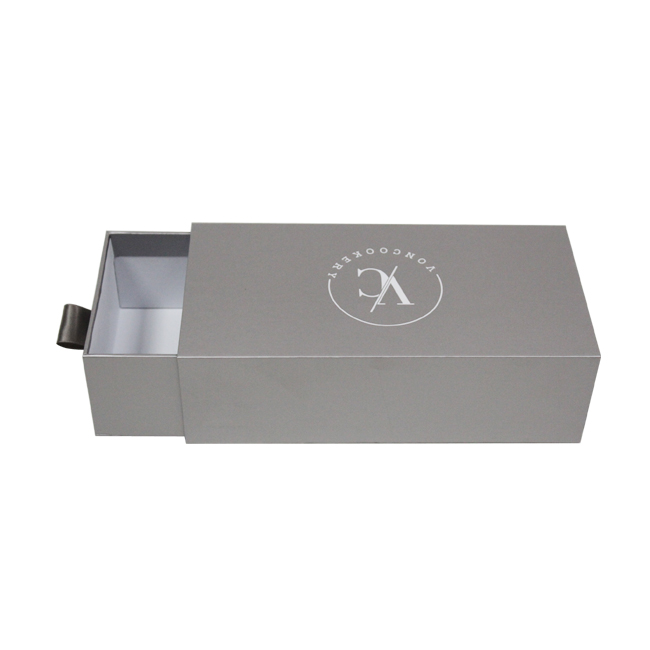 Gray color printing paper drawer gift box packaging