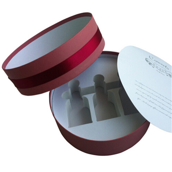 Custom Essential Oil Gift Packaging Round Box With Eva Insert