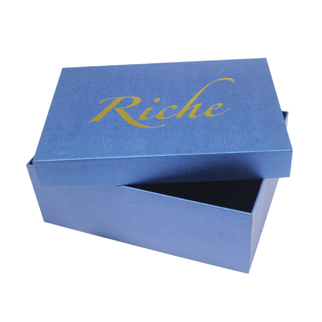 Custom brand paper box with lid for shoes packaging