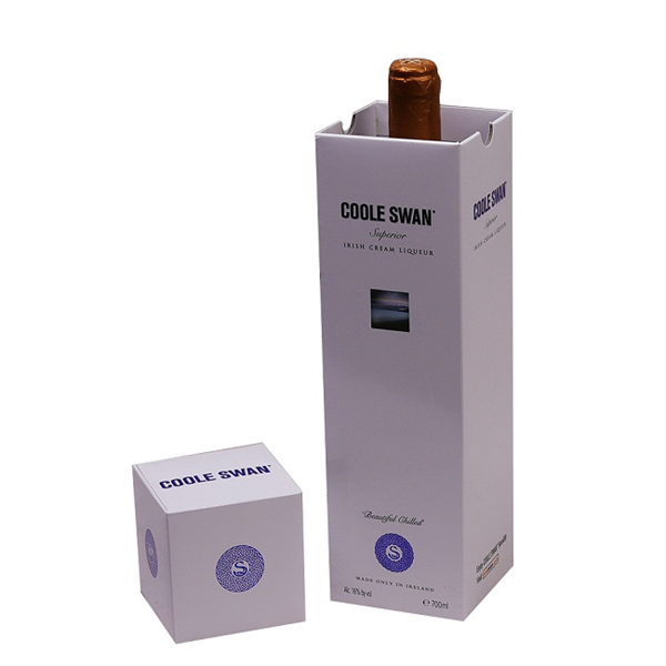 Elegant paper cardbord box for single wine bottle packaging