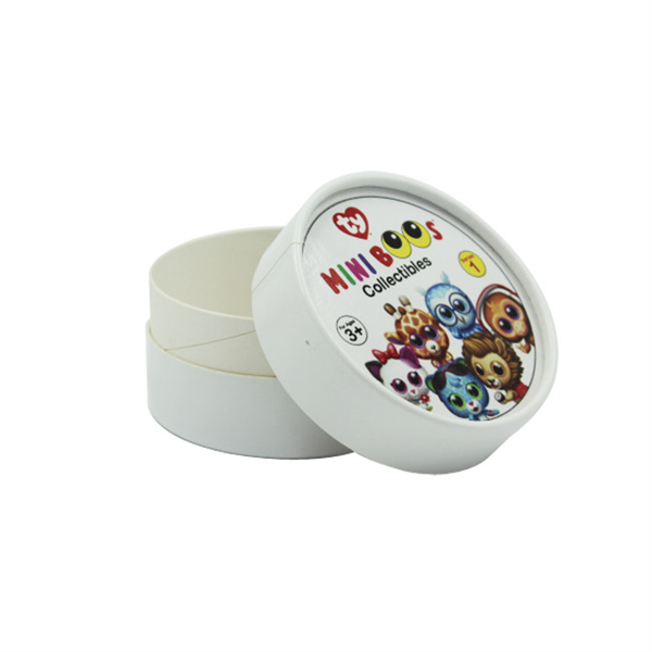 Small round tube paper box for candy packaging
