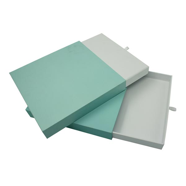 Soft Touch Paper Sliding Boxes with Silver Logo 04