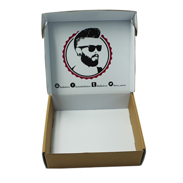 Brown kraft corrugated mailing box for sunglasses packaging