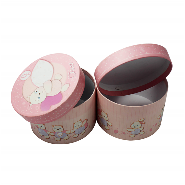 full color printing round tube paper box for gift packaging