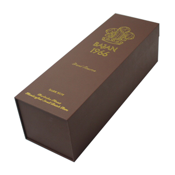 Luxury magnetic gift box for single wine bottle packaging