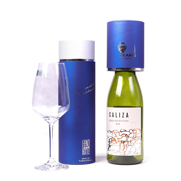 blue wine papaer box