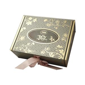 full color printing gift box with ribbon