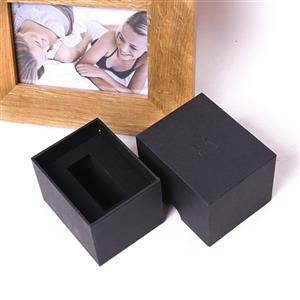 paper black watch box with lid