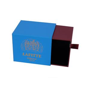blue and brown mixed color bluetooth speaker packaging box