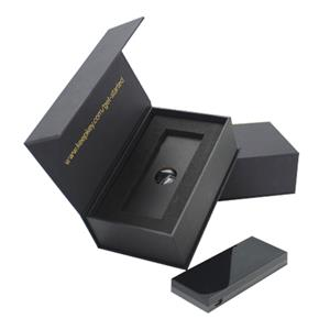 black electronic packaging box