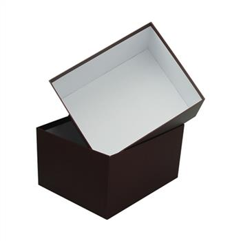 large paper cardboard box with lid
