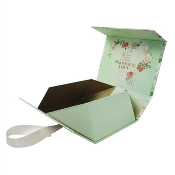 Handmade rigid paper folding gift box for cosmetic packaging