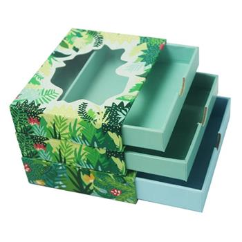Full Color Prinring Sliding Paper Boxes With Window