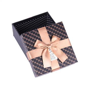 Luxury Custom Matt Paper Cardboard Packaging Gift Box With Bow