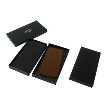 Customized logo black phone case packaging box with lid