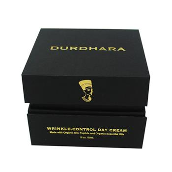 Gold Embossed Logo Black Card Paper Perfume Gift Box 02