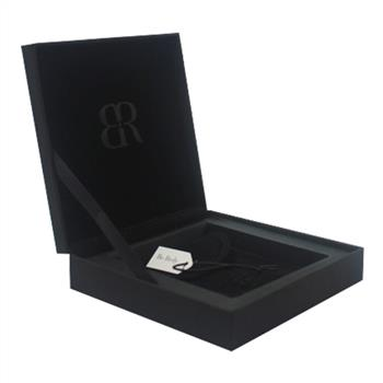 Black custom jewelry gift box with spot UV logo,with velvet jewelry bags
