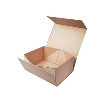 Rose Gold Logo Foldable Paper Box for Gift Packaging