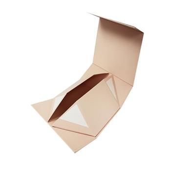 Rose Glold Logo Foldable Paper Box for Gift Packaging 03