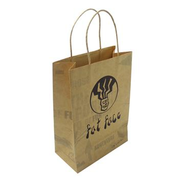 Light Brown Kraft Paper Gift Bag for Custom Logo Printing | HS™