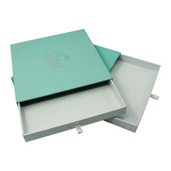 Soft Touch Paper Sliding Boxes with Silver Logo 03