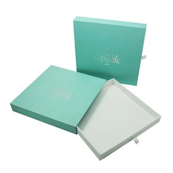Soft Touch Paper Sliding Boxes with Silver Logo