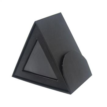 black paper packaging box with PVC window