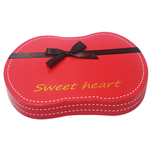 Custom new style of chocolate box with ribbon