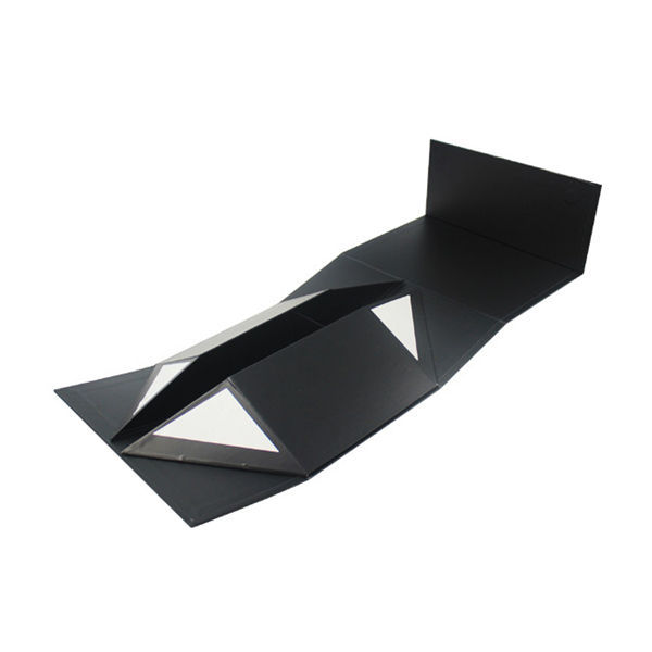 Black Cardboard Baseball Cap Gift Folding with Double Face Adesive