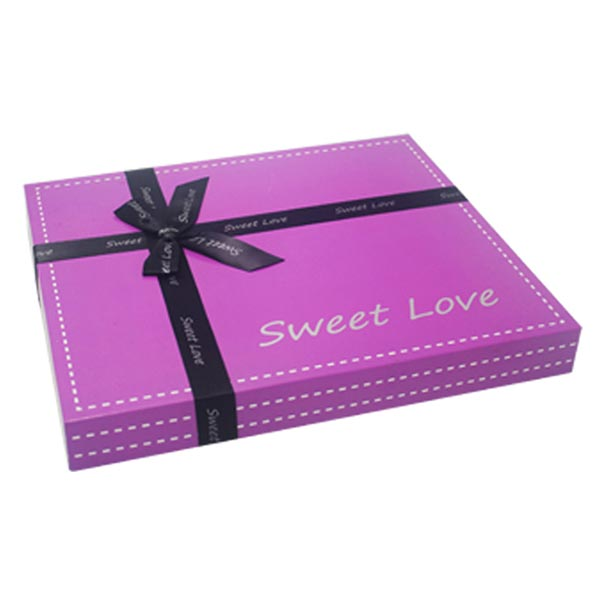 Custom Chocolate Gift Box with Ribbon Decoration