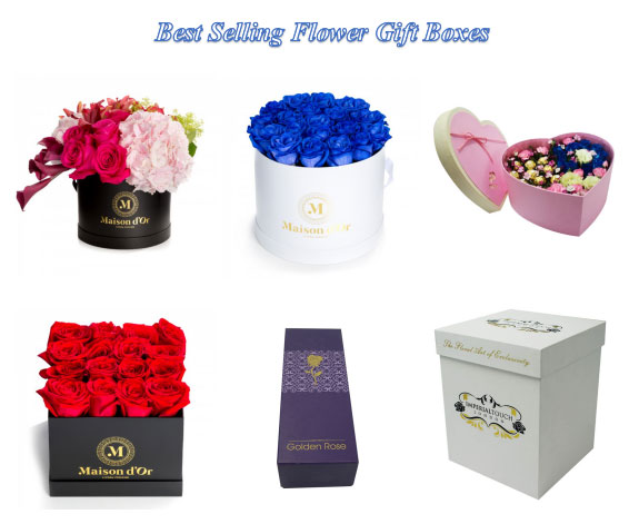 What are the popular shapes for rigid flower gift packaging?